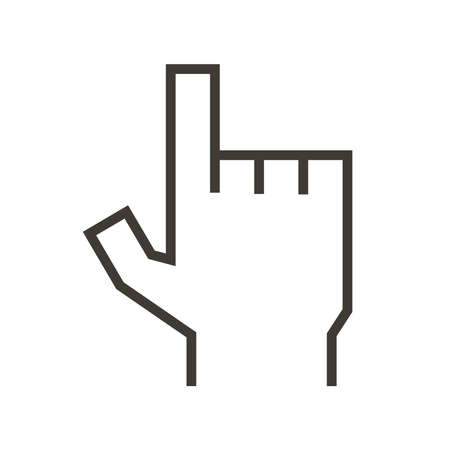 Finger pointing icon. Vector illustration design representing either mouse click or volunteering and available subjects