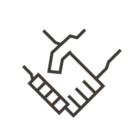 Handshake vector icon illustration design.