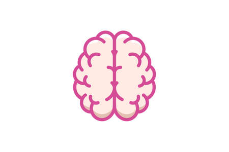creative icon of a brain representing ideas, creativity, knowledge, technology and the human mind. Solving problems concept illustration. Vector illustration of the human mind