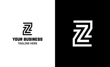 Letter Z minimal vector logo. Icon mark design template