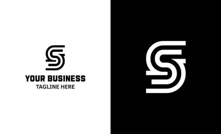 Letter S minimal vector logo. Icon mark design template
