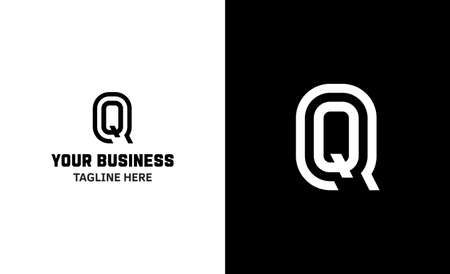 Letter Q minimal vector logo. Icon mark design template