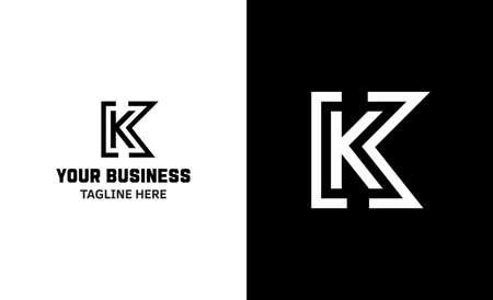 Letter K minimal vector logo. Icon mark design template Illustration