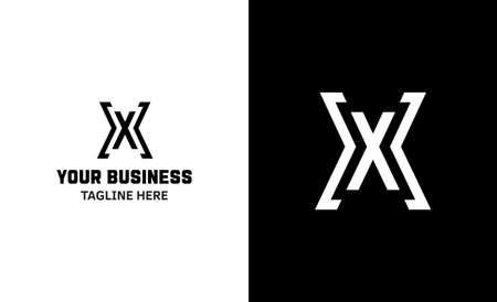 Letter X minimal vector logo. Icon mark design template