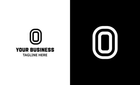 Letter O minimal vector logo. Icon mark design template