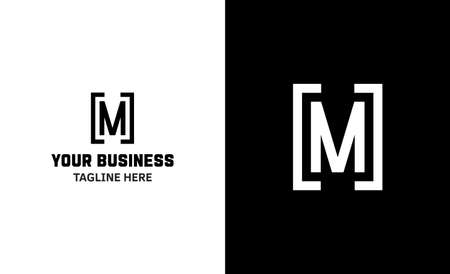 Letter M minimal vector logo. Icon mark design template 矢量图像