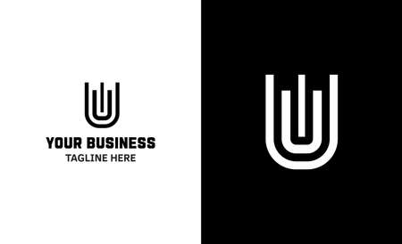 Letter U minimal vector logo. Icon mark design template 矢量图像