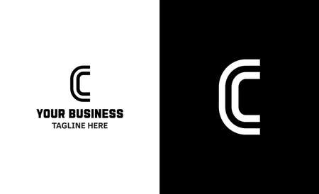 Letter C minimal vector logo. Icon mark design template