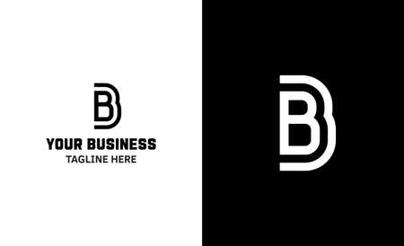 Letter B minimal vector logo. Icon mark design template 矢量图像