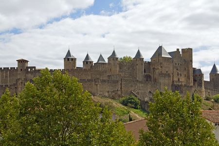 A part of the medieval cite of Carcassonne in the Languedoc, South France