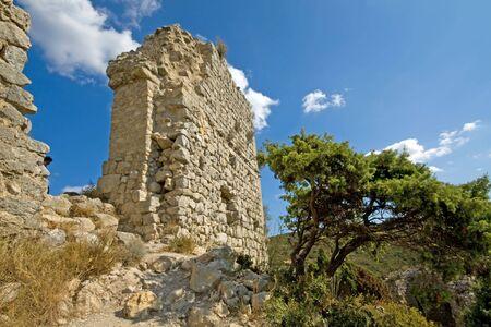 impregnable: Chateau Aquilar, Languedoc, south france. Cathar castle, refuge of Cathar heretics