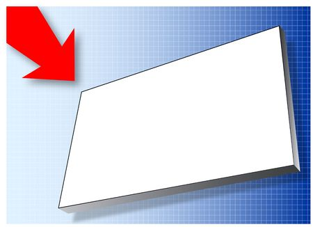billboard on blue gradient background. Designed for content to be added Stock Photo - 4434801