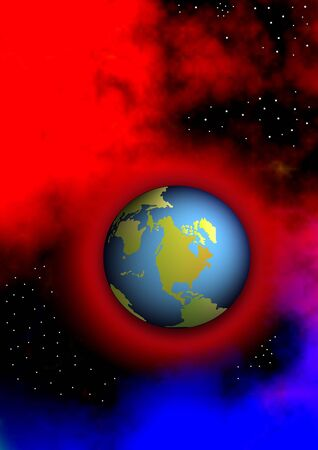 overheated: overheated world ist floating in space