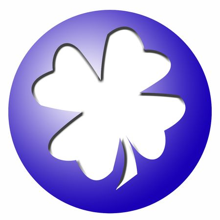 blue plastic ball with a white clover leaf for content to be added Stock Photo - 4452619