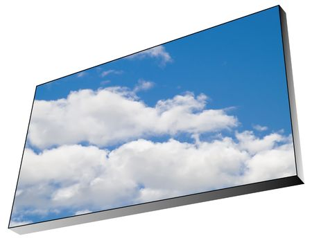 bildboard with blue sky and white clouds photo