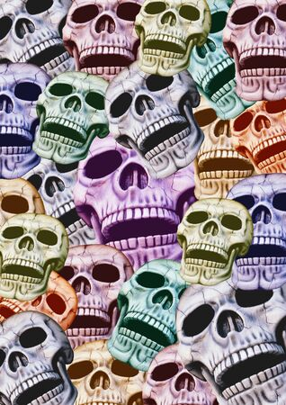 background out of colored skulls Stock Photo - 4435199