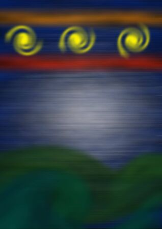 colorful blurred background with yellow swirls in the top Imagens - 4435064