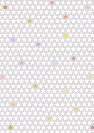 grey gradient background with a pattern out of little white and some colored stars