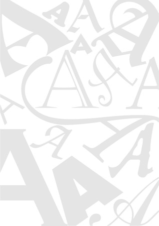 typefaces: Background with the Letter A in different typefaces. Useful for many design jobs birthday cards greetings offers advertisement Illustration