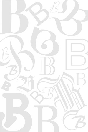 typefaces: Background with the Letter B in different typefaces. Useful for many design jobs birthday cards greetings offers advertisement