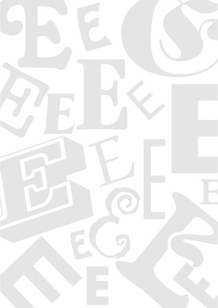 typefaces: Background with the Letter E in different typefaces. Useful for many design jobs birthday cards greetings offers advertisement