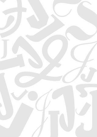typefaces: Background with the Letter J in different typefaces. Useful for many design jobs birthday cards greetings offers advertisement Illustration