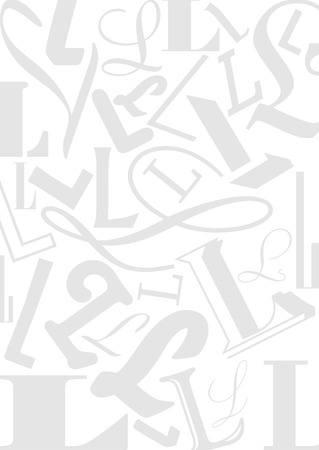 typefaces: Background with the Letter L in different typefaces. Useful for many design jobs birthday cards greetings offers advertisement