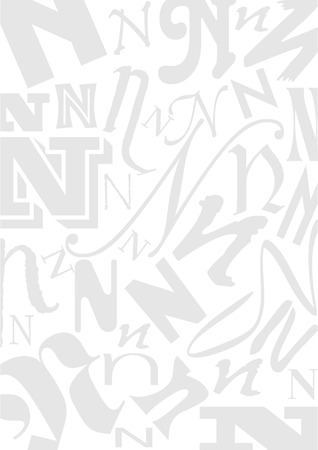 typefaces: Background with the Letter N in different typefaces. Useful for many design jobs birthday cards greetings offers advertisement Illustration
