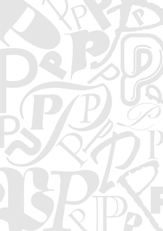 typefaces: Background with the Letter P in different typefaces. Useful for many design jobs birthday cards greetings offers advertisement