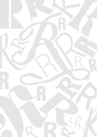 different jobs: Background with the Letter R in different typefaces. Useful for many design jobs birthday cards greetings offers advertisement