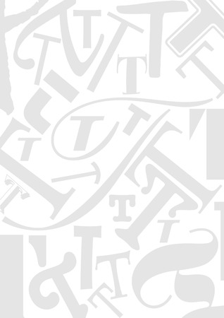 typefaces: Background with the Letter T in different typefaces. Useful for many design jobs birthday cards greetings offers advertisement