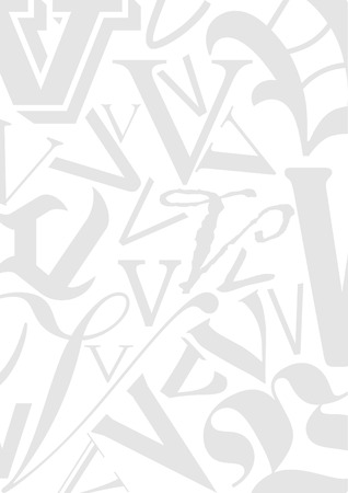 typefaces: Background with the Letter V in different typefaces. Useful for many design jobs birthday cards greetings offers advertisement Illustration
