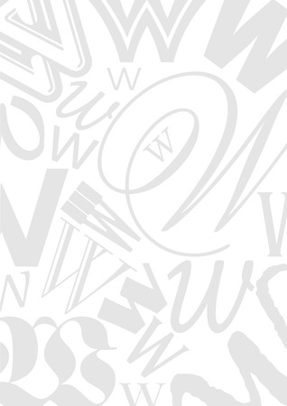 typefaces: Background with the Letter W in different typefaces. Useful for many design jobs birthday cards greetings offers advertisement Illustration