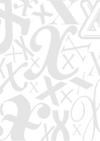typefaces: Background with the Letter X in different typefaces. Useful for many design jobs birthday cards greetings offers advertisement