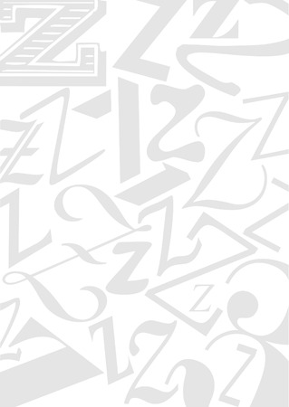 typefaces: Background with the Letter Z in different typefaces. Useful for many design jobs birthday cards greetings offers advertisement