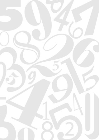 Background out of numbers in different typefaces. Useful for many design jobs birthday cards greetings offers advertisement Vectores