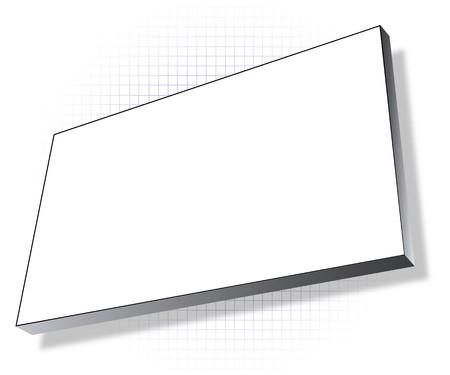 shadowed: white plastic shadowed billboard Stock Photo