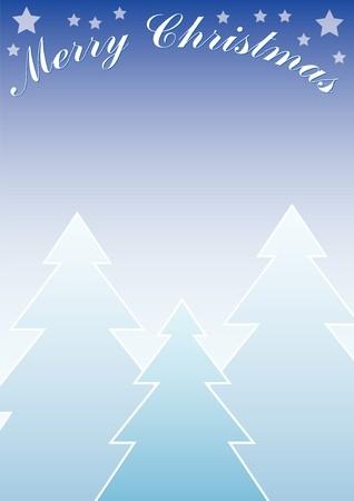 blue gradient christmas background photo