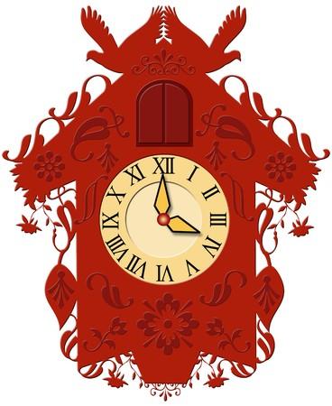 cuckoo: decorative cuckoo clock Stock Photo