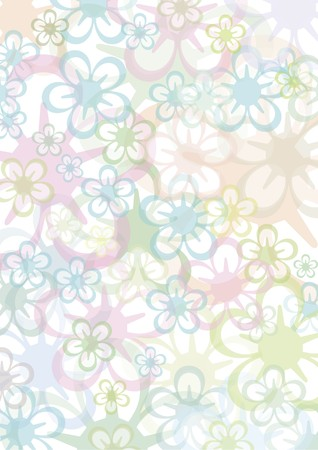 background out of pastell colored flowers photo