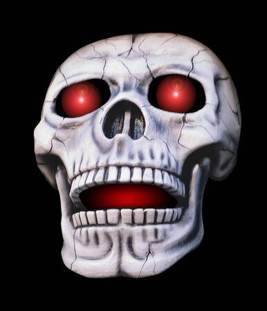 skull with glowing eyes and mouth Stock Photo - 4468407