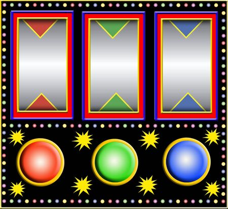 lucky break: colorful slotmachine with big empty fields Stock Photo