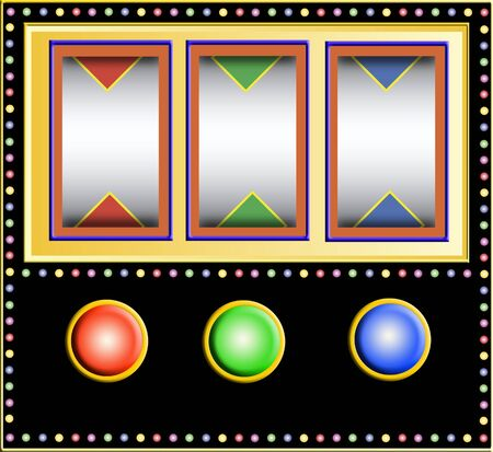 lucky break: colorful slotmachine with little empty fields