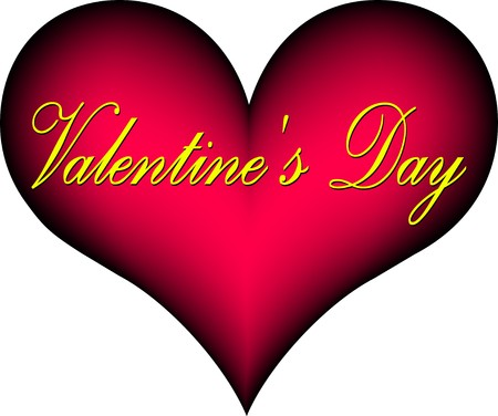 """plastic heart: cuore rosso di plastica con la scritta """"San Valentino"""""""