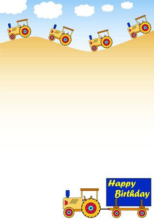 childrens birthday background Vector