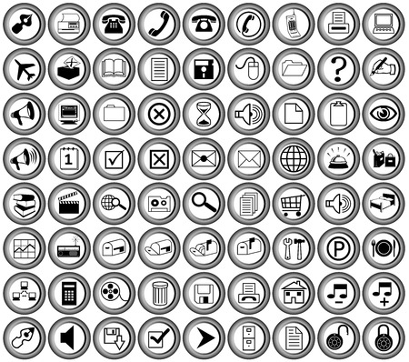 round metallic office buttons for print and web Stock Vector - 5484147