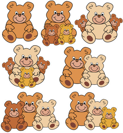 different groups of teddies