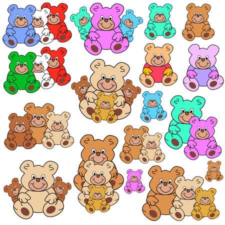 osos de peluche: colecci�n de osos de peluche en diferentes grupos y colores