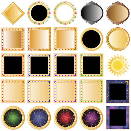 collection of decorative buttons Vector