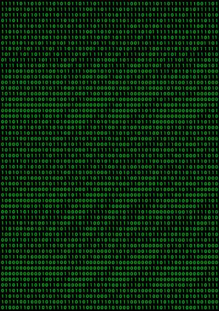 Arrière-plan noir avec le code binaire vert